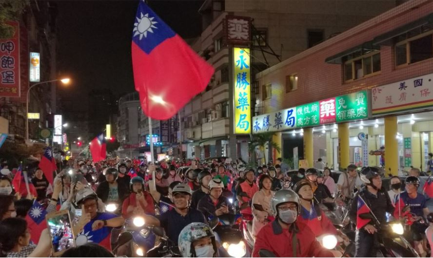 Taiwanese parties ramp up campaigns with motorcades and social media blitz on eve of elections