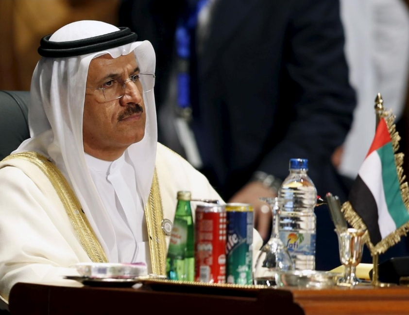 United Arab Emirates' Sultan Bin Saeed Al Mansouri, Minister of Economy attends the opening meeting of the Arab Summit in Sharm el-Sheikh, in the South Sinai governorate, south of Cairo, March 28, 2015