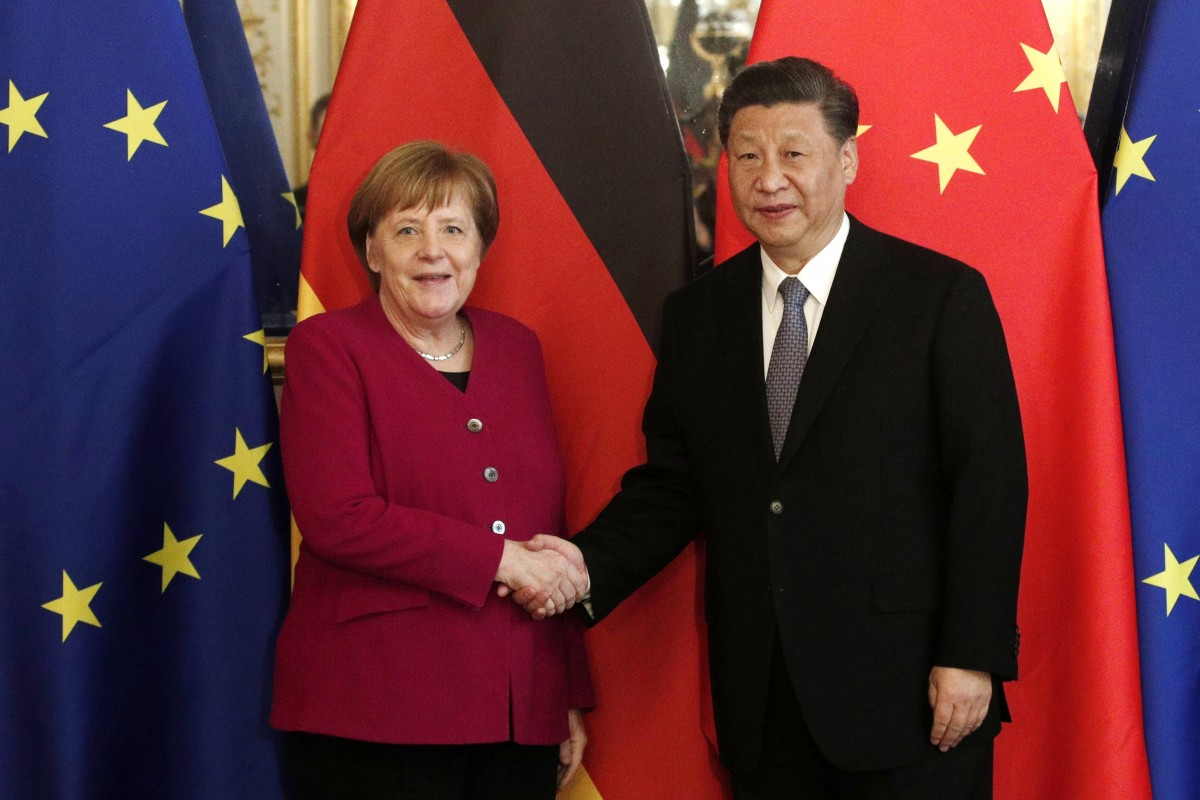 EU leaders hold out olive branch to Chinese 'rival' by saying they want active role in Belt and Road Initiative