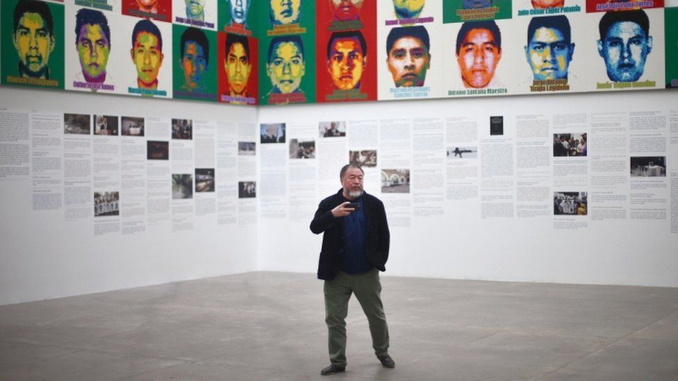 Ai Weiwei unveils Lego portraits of missing Mexico students
