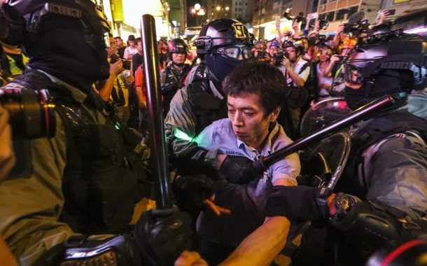 Hong Kong protests: man seriously hurt after attack by anti-government demonstrators as street fights between rival groups erupt