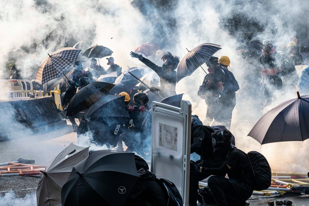 National Day Demonstrations in Hong Kong Turn Violent, as Police Shoot Protester