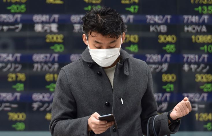 Japan plunges more than 3%, with stocks in Asia dropping as virus fears resurface